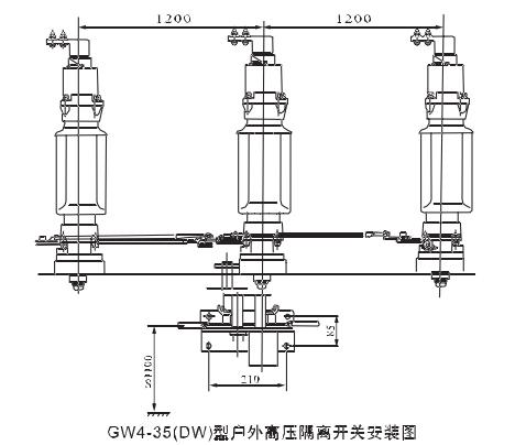 湘湖牌-gw4-35w铜管型户外高压隔离开关